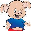 一只流浪的猪